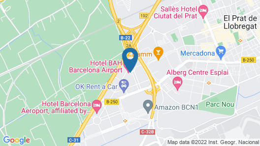 Barcelona Airport Hotel Map