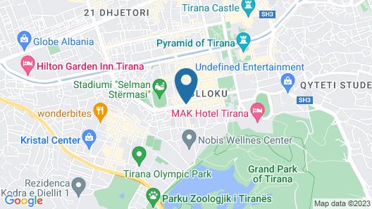 Tirana Apartment Map