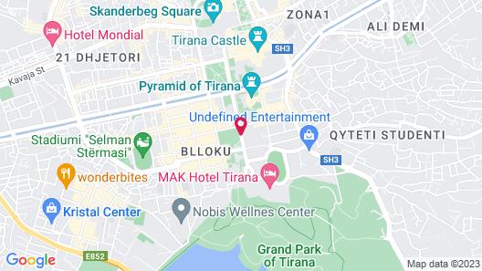 Rogner Hotel Tirana Map