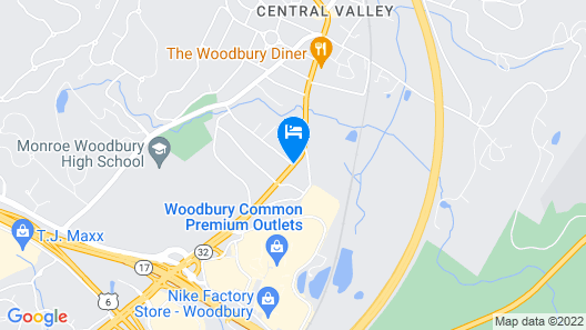 Americas Best Value Inn Central Valley Map