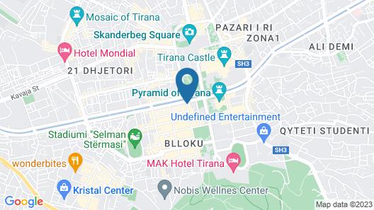 Xheko Imperial Hotel Map