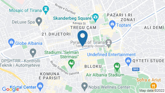 Tirana View Apartment Map