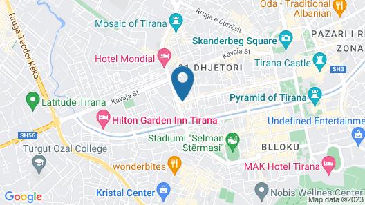 Artistic Tirana Map
