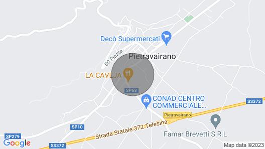 4 Zimmer Unterkunft in Pietravairano Map
