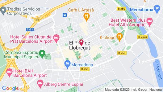 Airhostel Barcelona Aeropuerto Map