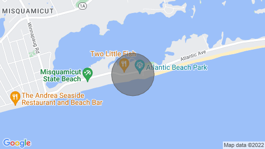 Beach Front 2 bed 1 Bath Unit on 350 Feet of Private Beach on Misquamicut Beach Map