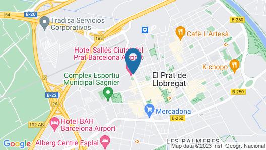Sallés Hotel Ciutat del Prat Map
