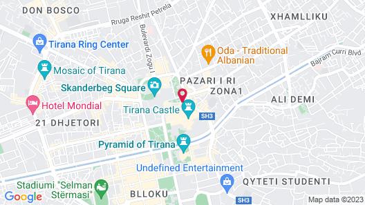 Maritim Hotel Plaza Tirana Map