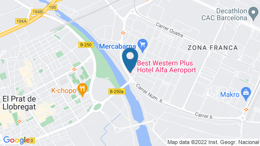 Best Western Plus Hotel Alfa Aeropuerto Map