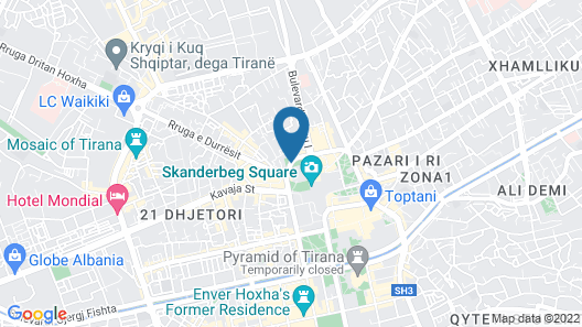 Tirana Center Excelsior Apartment Map