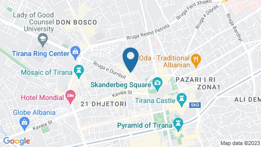 Albanopolis Hotel Map