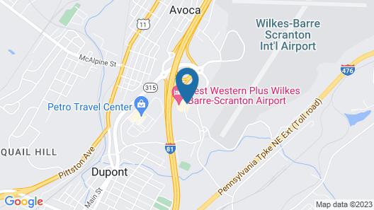 Best Western Plus Wilkes Barre-Scranton Airport Hotel Map