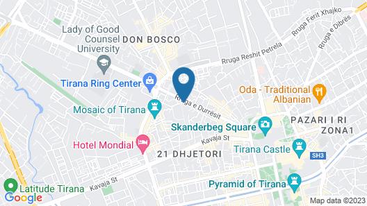 Hotel Colosseo Tirana Map
