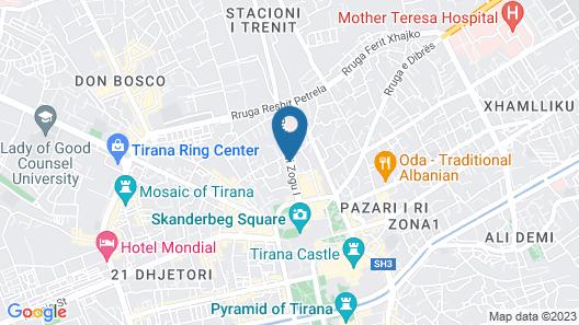 New Generation Hostel Tirana Center Map