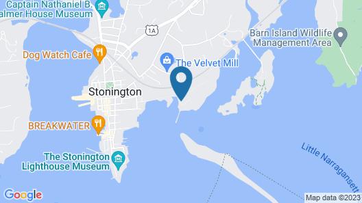 Villa Salt Acres Mystic Stonington Connecticut Map