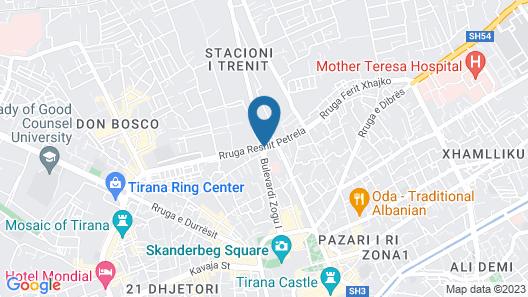 VH Eurostar Tirana Hotel & Congress Map