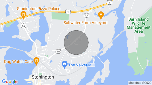 Comfortable Living in Casual 100 yr old Home, 10 min Walk to Stonington Village Map