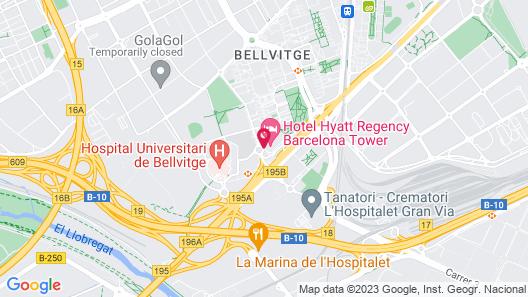 Hyatt Regency Barcelona Tower Map