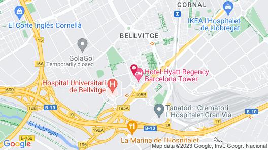 Hesperia Fira Suites Map