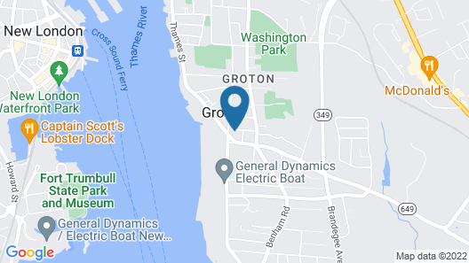 Convenient Studio in the Heart of Groton Map