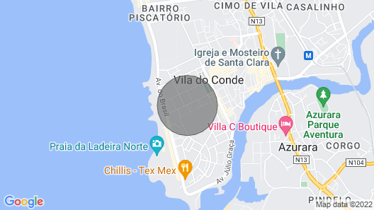 Beach House 4YOU, 100 meters from the Blue beach Map