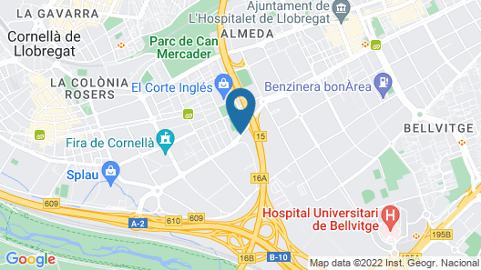 Novotel Barcelona Cornella Map