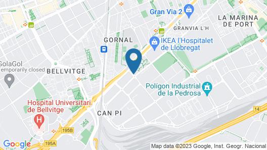 Eurohotel Barcelona Gran Via Fira Map