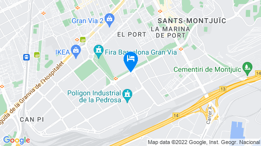 Hotel Travelodge Barcelona Fira Map
