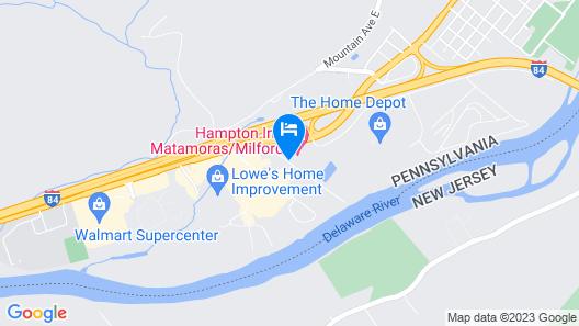 Hampton Inn Matamoras - Milford Map