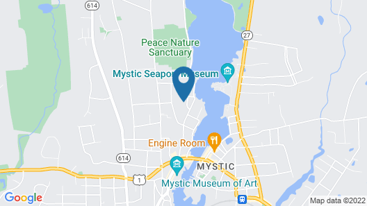 Walkable Home in Mystic Historic District Map