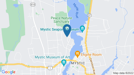 The Hemingway Cottage - Private Downtown Mystic Retreat Map