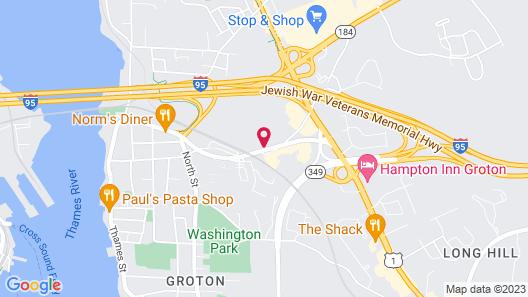 Motel 6 Groton, CT Map