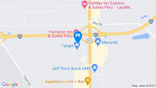Fairfield Inn & Suites Peru Map