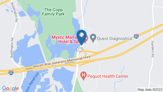Mystic Marriott Hotel and Spa Map