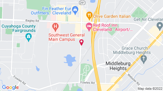 Courtyard by Marriott Cleveland Airport South Map