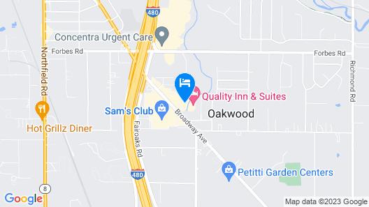 Hampton Inn & Suites Oakwood Village-Cleveland Map