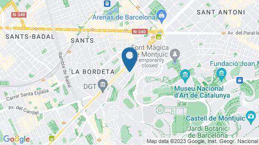 Aparthotel BCN Montjuic Map