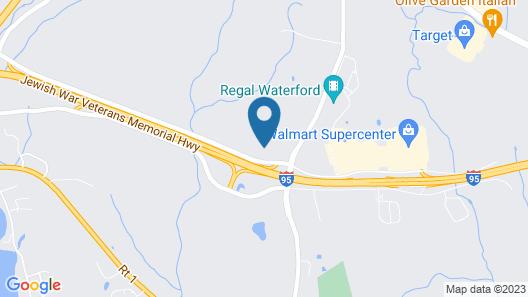 Rodeway Inn Waterford - New London Map