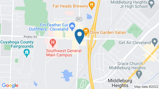 Motel 6 Middleburg Heights, OH - Cleveland Map