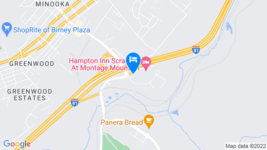 Hampton Inn Scranton at Montage Mountain Map