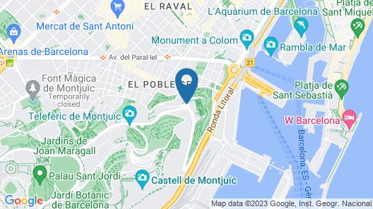 Miramar Barcelona Map