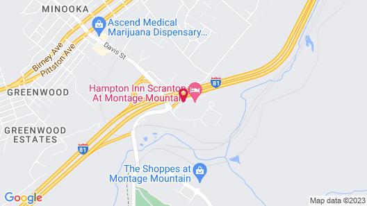 Comfort Suites Scranton near Montage Mountain Map