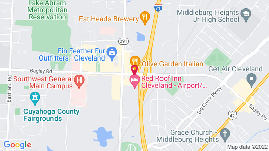 Red Roof Inn Cleveland Airport-Middleburg Heights Map