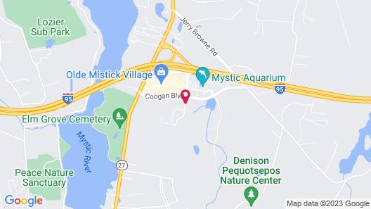Hilton Mystic Map