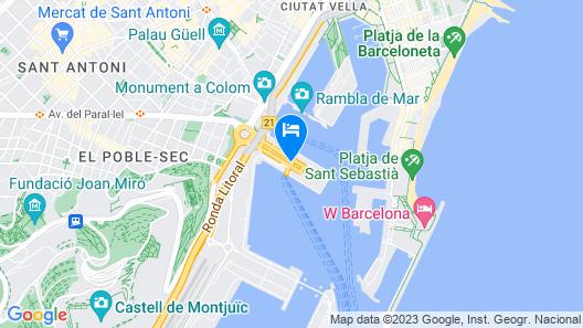 Eurostars Grand Marina Map