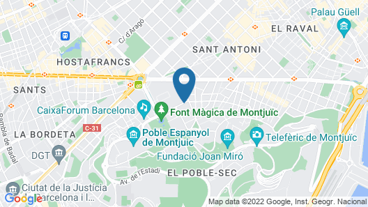 Montjuic Fountains Map