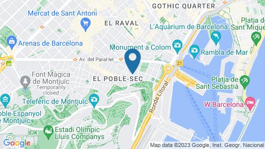 Hotel Nuevo Triunfo Map