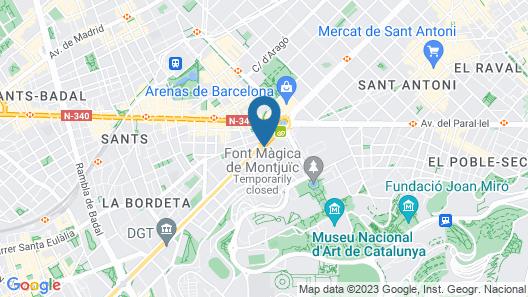 Ayre Hotel Gran Via Map