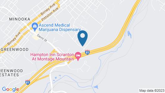 Econo Lodge Scranton near Montage Mountain Map