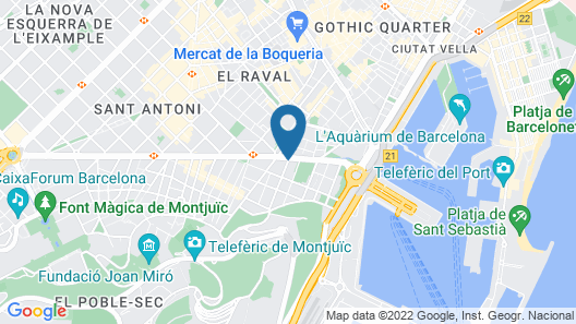 TRYP Barcelona Apolo Hotel Map